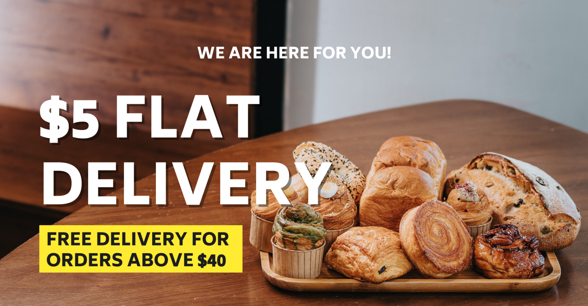 $5 Flat Delivery